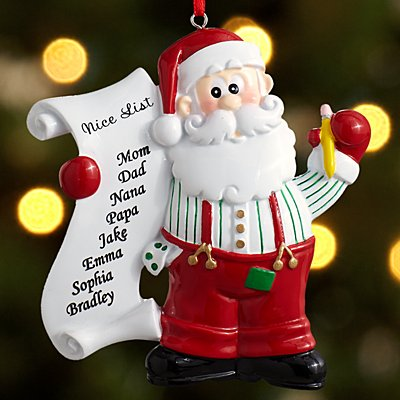 Who's on the Nice List? Ornament