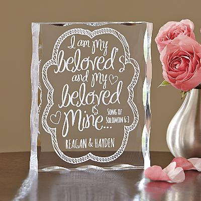 I Am My Beloved's Acrylic Block