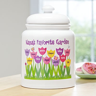 Tulip Garden Treat Jar