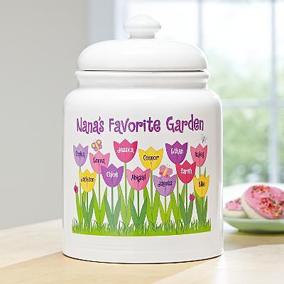 Tulip Garden Treat Jar