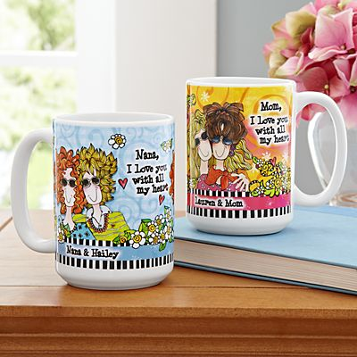 Wonderful, Wacky Women Relationship Mugs by Suzy Toronto