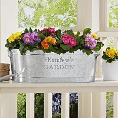 Galvanized Planter Tub