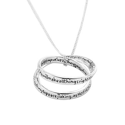 Everlasting Serenity Prayer Necklace