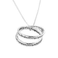 Everlasting Serenity Prayer Necklace