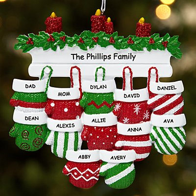 Mitten Family Ornament