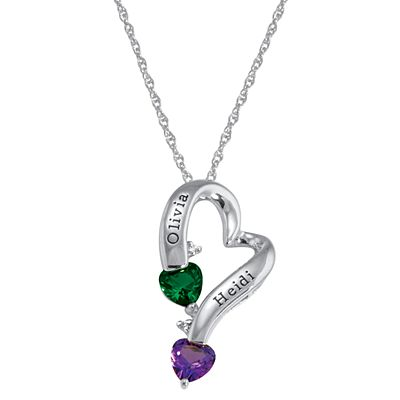 Two Hearts One Love Necklace