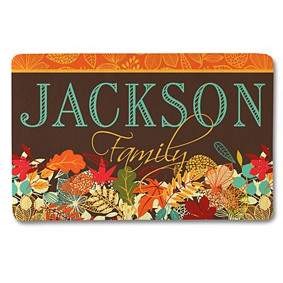 Colorful Fall Family Doormat-17x27