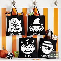 Ghostly Glow Halloween Glow In The Dark Treat Bags