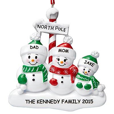 North Pole Family Ornament - 3