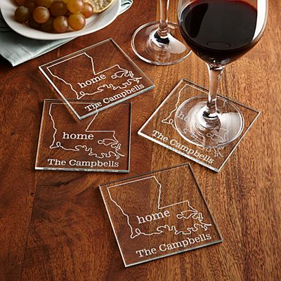 Home State Glass Coasters