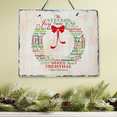 Christmas Wreath Slate