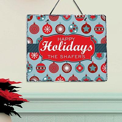Holiday Ornament Slate