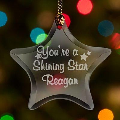 Shining Star Glass Ornament