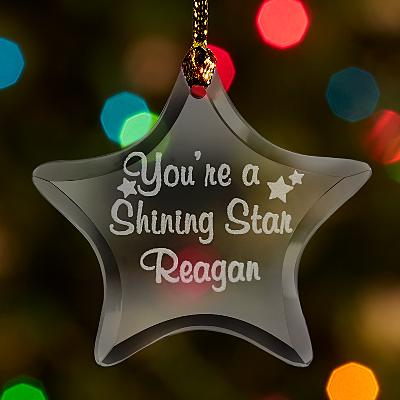 Shining Star Glass Bauble
