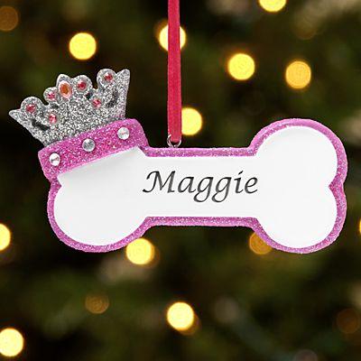 Princess Dog Bone Ornament