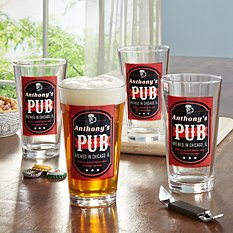 Good Times on Tap Pint Beer Glass