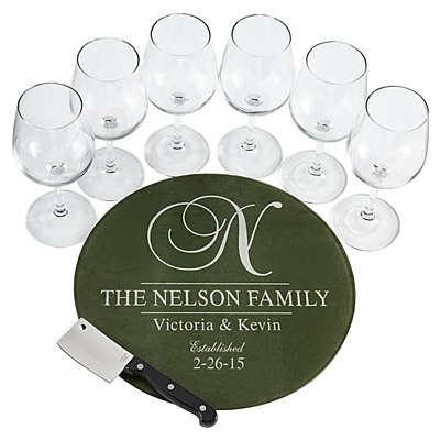 8pc Decorative Wine Service Set - Green
