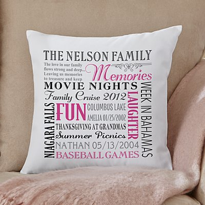 Remember When Family Throw Pillow