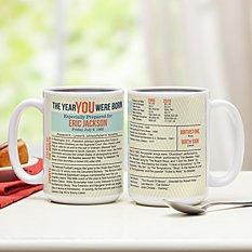 The Year You Were Born Mug