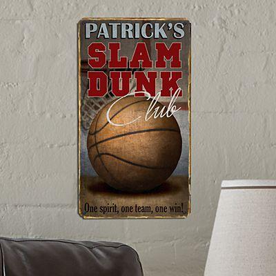 Slam Dunk Metal Sign
