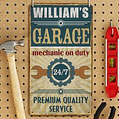 Mechanic on Duty Metal Sign