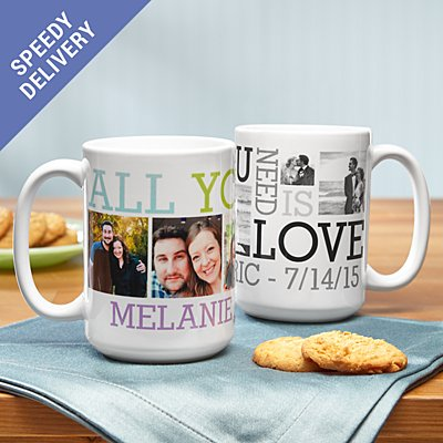 Love Photo Collage Mug