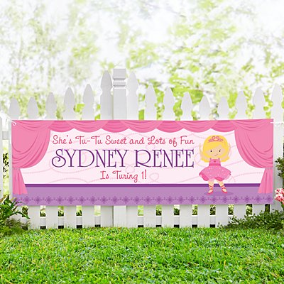 Twinkle Toes Birthday Banner-6ft