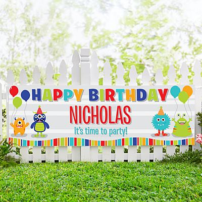 Party Monsters Birthday Banner