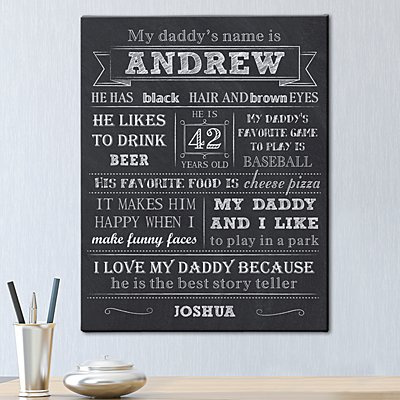 All About My Daddy Canvas