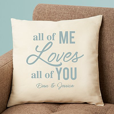 All of Me Loves All of You Throw Pillow