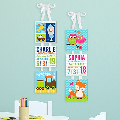 Baby's Big Day Hanging Mini Canvas