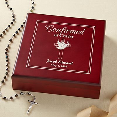 Confirmed in Christ Wood Keepsake Box