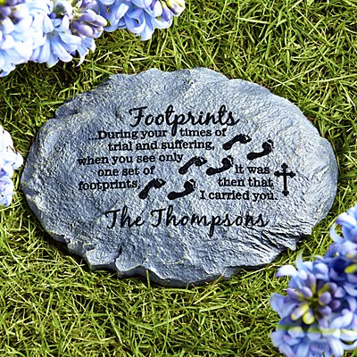 Footprints of Faith Stepping Stone