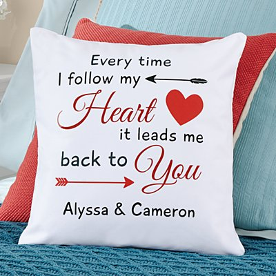 Follow My Heart Throw Pillow