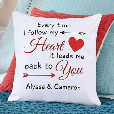 Follow My Heart Pillow