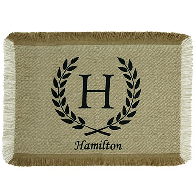 Rustic Country Placemat - Black