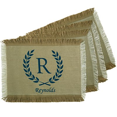 Rustic Country Placemat - Blue - Set of 4