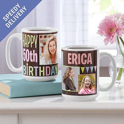 How Time Flies Photo Birthday Mug