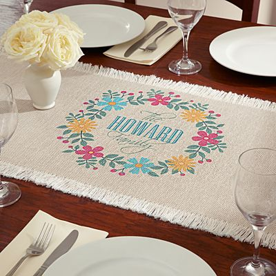 Floral Family Table Runner