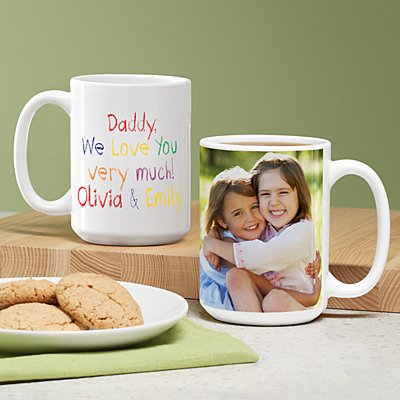 Colorful Crayon Message Photo 15oz Mug