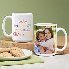 Colorful Crayon Message Photo Mug
