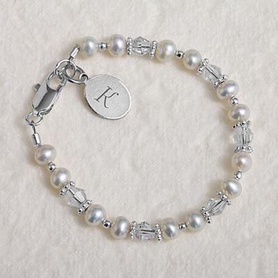 "Freshwater Pearl Baby Bracelet - 5"""