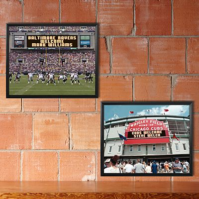 MLB & NFL Canvas Scoreboard Memories