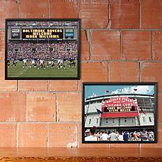 MLB & NFL Canvas Scoreboard Memories