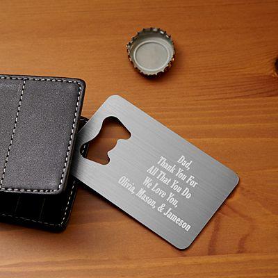 Secret Message Wallet Bottle Opener