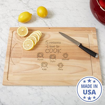 Reasons Why™ Wood Cutting Board
