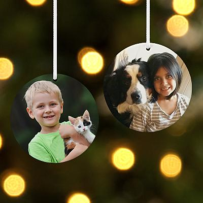Kids Round Photo Bauble