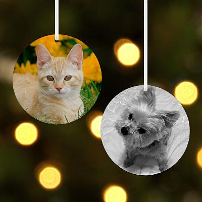 Pet Round Photo Bauble