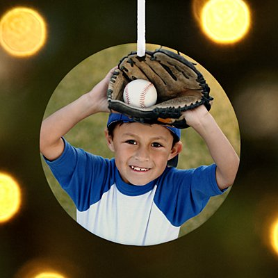 Sports Round Photo Ornament
