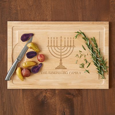Hanukkah Wood Cutting Board